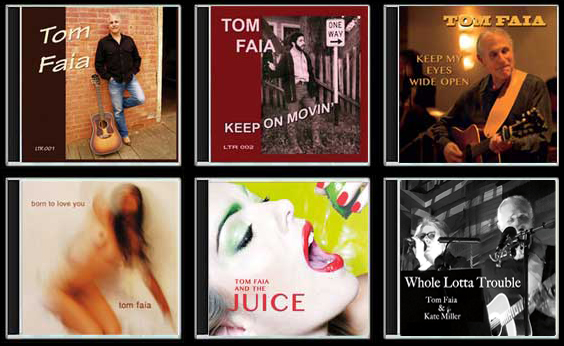 Four Tom Faia CD Covers; image